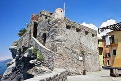 Fortaleza Castello Dragone de la Edad Media en Camogli Foto de archivo libre de regalías