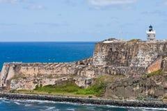 Fortaleza costera antigua en Puerto Rico Fotos de archivo