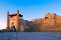 Fortaleza da arca. Bukhara. imagens de stock