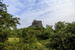 Fortaleza da rocha de Sigiriya em Matale, Sri Lanka Foto de Stock Royalty Free