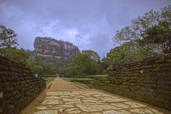 Fortaleza da rocha de Sigirya, Sri Lanka Foto de Stock Royalty Free