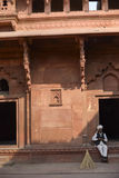 Fortaleza de Agra, la India Foto de archivo libre de regalías