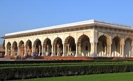 Fortaleza de Agra, pasillo de la audiencia pública Fotografía de archivo
