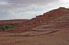 A fortaleza de Ait Ben Haddou, em Marrocos Fotografia de Stock