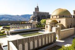 Fortaleza de Akhaltsikhe, também a fortaleza de Rabat, os panoramas e o fra imagens de stock