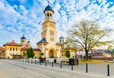 Fortaleza de Alba Iulia, a Transilvânia, Romênia Fotos de Stock Royalty Free