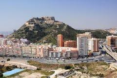 Fortaleza de Alicante Imagen de archivo libre de regalías