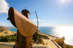 Fortaleza de Alicante Foto de archivo