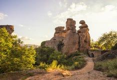 Fortaleza de Belogradchik dentro Fotografía de archivo libre de regalías