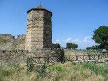 A fortaleza de Bilhorod-Dnistrovskyi ou a fortaleza de Akkerman são um monumento histórico e arquitetónico dos 13o-14os séculos e Fotografia de Stock Royalty Free