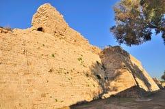 Fortaleza de Caesarea. Imagen de archivo libre de regalías