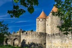Fortaleza de Carcassonne, France Imagem de Stock Royalty Free