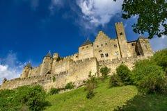 Fortaleza de Carcassonne, France Foto de Stock Royalty Free