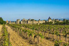 Fortaleza de Carcassonne, France Fotografia de Stock Royalty Free