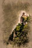 Fortaleza de Cesta, São Marino Fotos de Stock