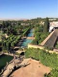 Fortaleza de Christian Kings, Córdova do palácio, Espanha, a Andaluzia Fotos de Stock