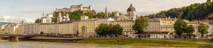 Fortaleza de Danube River e de Salzburg Fotos de Stock Royalty Free