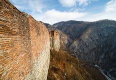 Fortaleza de Dracula em Poienari, imagem de stock