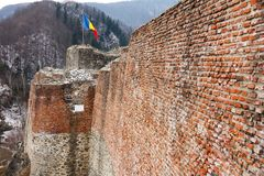 Fortaleza de Dracula em Poienari, Imagens de Stock Royalty Free