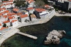 Fortaleza de Dubrovnik Imagenes de archivo