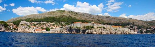 Fortaleza de Dubrovnik do mar Imagem de Stock