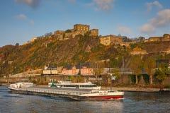 Fortaleza de Ehrenbreitstein en Koblenz, Alemania fotografía de archivo libre de regalías