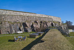 Fortaleza de Fredriksten em Halden (área da parte externa) Foto de Stock Royalty Free