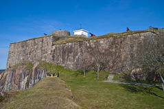 Fortaleza de Fredriksten en Halden (área del exterior) Foto de archivo libre de regalías
