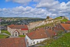 Fortaleza de Fredriksten (los powderhouses grandes) Foto de archivo libre de regalías