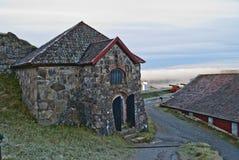 Fortaleza de Fredriksten, poco compartimiento de polvo Fotos de archivo libres de regalías