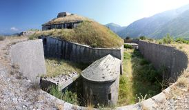Fortaleza de Goradzha no monte em um dia ensolarado Foto de Stock Royalty Free
