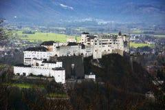 Fortaleza de Hohensalzburg em Salzburg, Foto de Stock