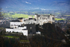 Fortaleza de Hohensalzburg en Salzburg, Foto de archivo