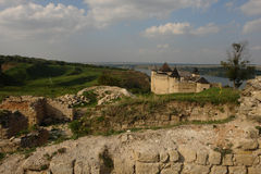 Fortaleza de Hotyn foto de archivo libre de regalías