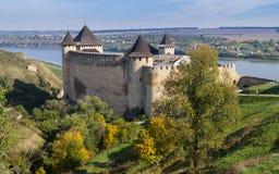 Fortaleza de Hotyn, Ucrânia ocidental Fotos de Stock Royalty Free