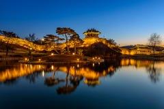 Fortaleza de Hwaseong, arquitectura tradicional de Corea en Suwon en Imagen de archivo libre de regalías