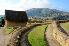 Fortress of Ingapirca. Fortaleza de Ingapirca archaeological complex located in the province of Cañar, Ecuador Stock Images