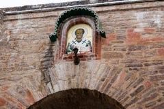 Fortaleza de Izborsk en invierno Foto de archivo libre de regalías