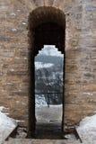 Fortaleza de Izborsk no inverno Imagem de Stock