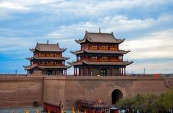 Fortaleza de Jiayuguan em China Foto de Stock