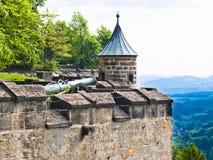 Fortaleza de Königstein Fotografía de archivo