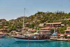 Fortaleza de Kalekyoy, Kekova, Turquía de la piratería Fotos de archivo