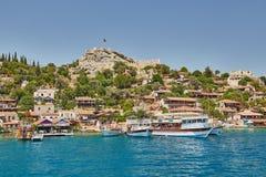 Fortaleza de Kalekyoy, Kekova, Turquía de la piratería - Imagen de archivo libre de regalías