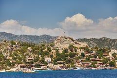 Fortaleza de Kalekyoy, Kekova, Turquía - una foto 1 de la piratería Imágenes de archivo libres de regalías