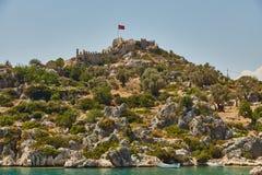 Fortaleza de Kalekyoy, Kekova, Turquía - una foto 5 de la piratería Imagen de archivo
