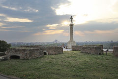 Fortaleza de Kalemegdan, Belgrado, Sérvia Fotos de Stock Royalty Free