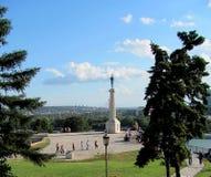 Fortaleza de Kalemegdan e Victor Monument, Belgrado, Sérvia foto de stock