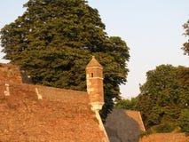 Fortaleza de Kalemegdan em Belgrado no verão fotografia de stock