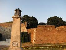Fortaleza de Kalemegdan em Belgrado no verão imagens de stock royalty free