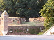 Fortaleza de Kalemegdan en Belgrado el verano imagen de archivo libre de regalías